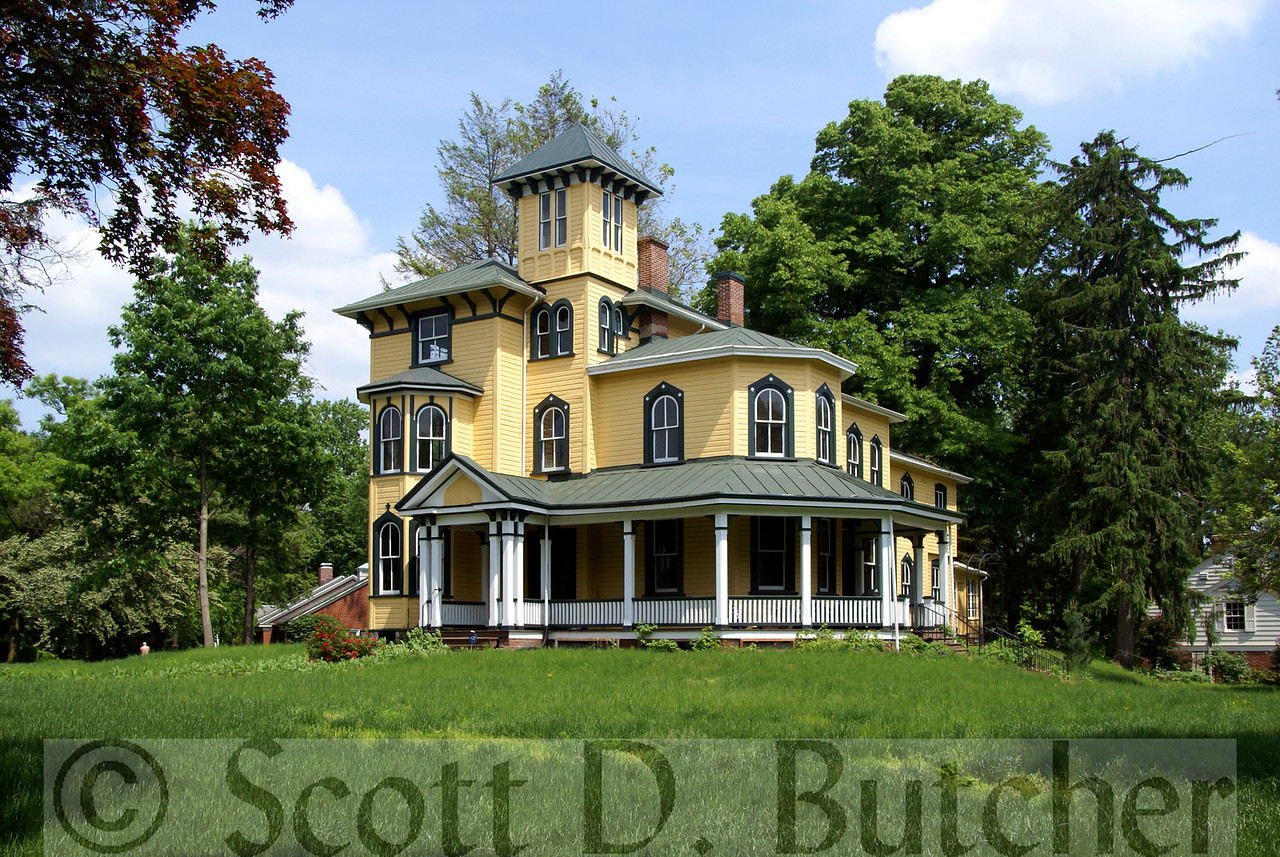 The picturesque Harrisburg mansion known as Breeze Hill is an excellent example of the Italian Villa type of Italianate architecture.  Photo by Scott D. Butcher.