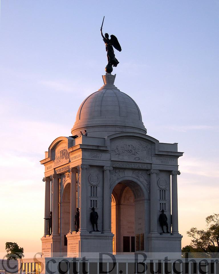 Pennsylvania Memorial, Gettysburg Battlefield.
