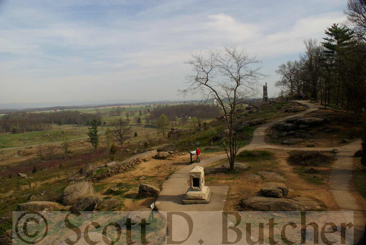 Little Round Top viewed from 44th New York Infantry Monument