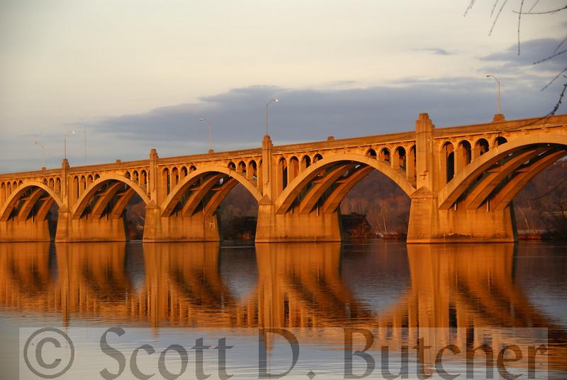 Sunrise at the Coloumbia-Wrightsville Bridge