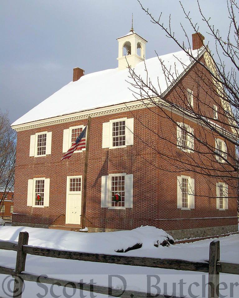 Winter at the Colonial Court House.