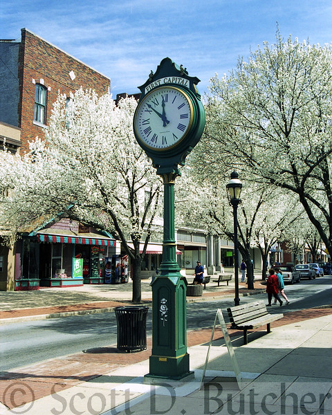 First Capital Clock in Spring