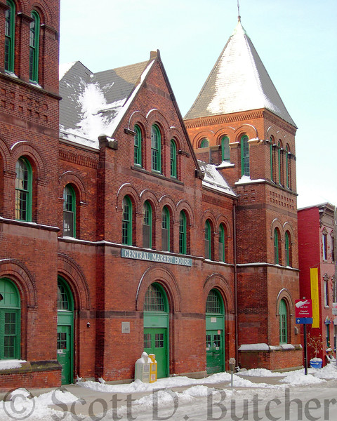 Central Market House in Winter.