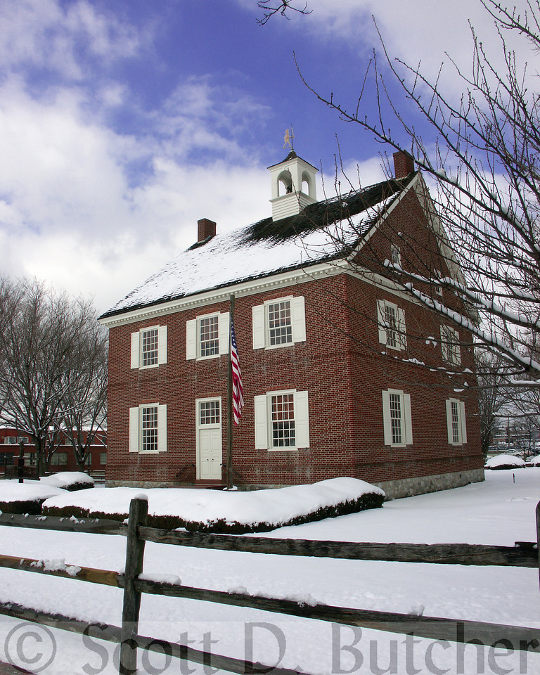 Colonial Court House in Winter.