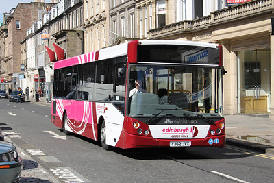 Edinburgh Coach Lines YJ62JVX George St Edin 1 May 13