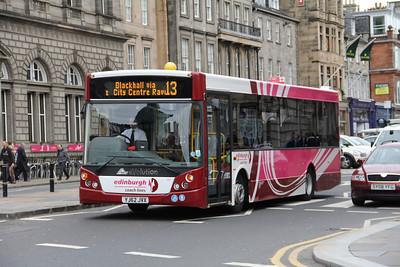 Edinburgh Coach Lines YJ62JVX George St Edin 2 May 13