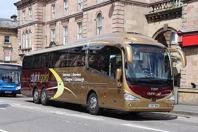 Edinburgh Coach Lines YR17RHA Academy Street Invss Jun 17