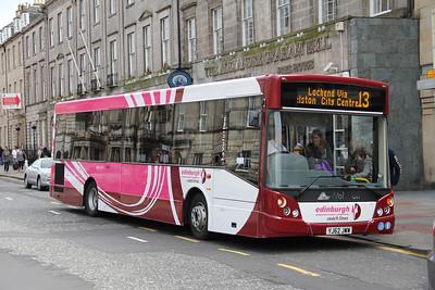 Edinburgh Coach Lines YJ62JWW George St Edin 2 May 13