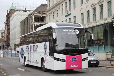 Edinburgh Coach Lines PSU613 George Square Glasgow Apr 18