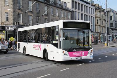 Edinburgh Coach Lines YJ62JVX Princes St Edin May 14