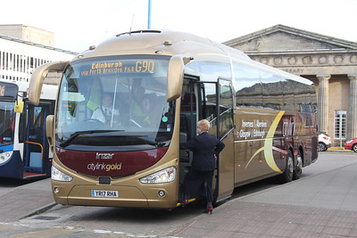 Edinburgh Coach Lines YR17RHA Inverness Bus Station Oct 17