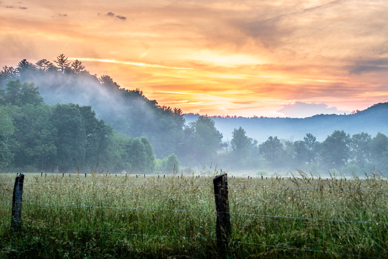 Smoky Mtn. Sunset #2  - Smoky Mountain National Park, TN