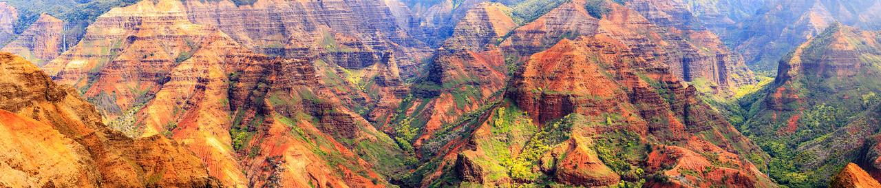 Waimea Canyon Horizontal Pano  #2- Kauai