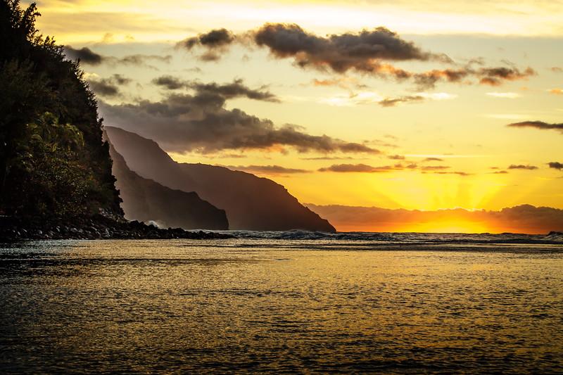 Na Pali Coast Sunset - Kauai