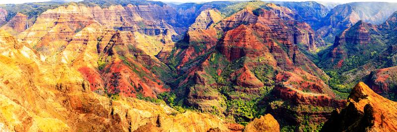 Waimea Canyon Horizontal Pano  #1- Kauai