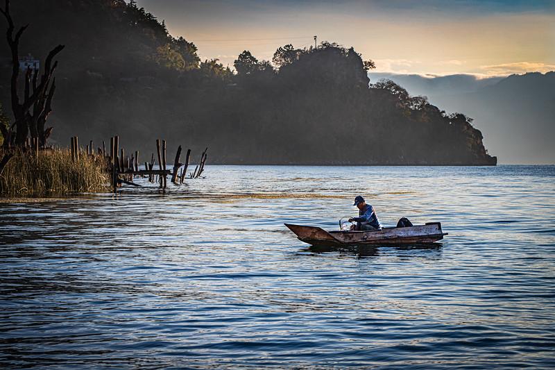 Lake Atitlan Fisherman #1 - San Marcos La Laguna, Guatemala