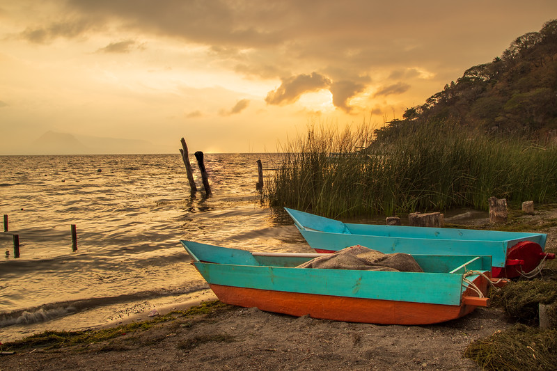 Guatemalan Boats – Santa Catarina La Laguna, Guatemala