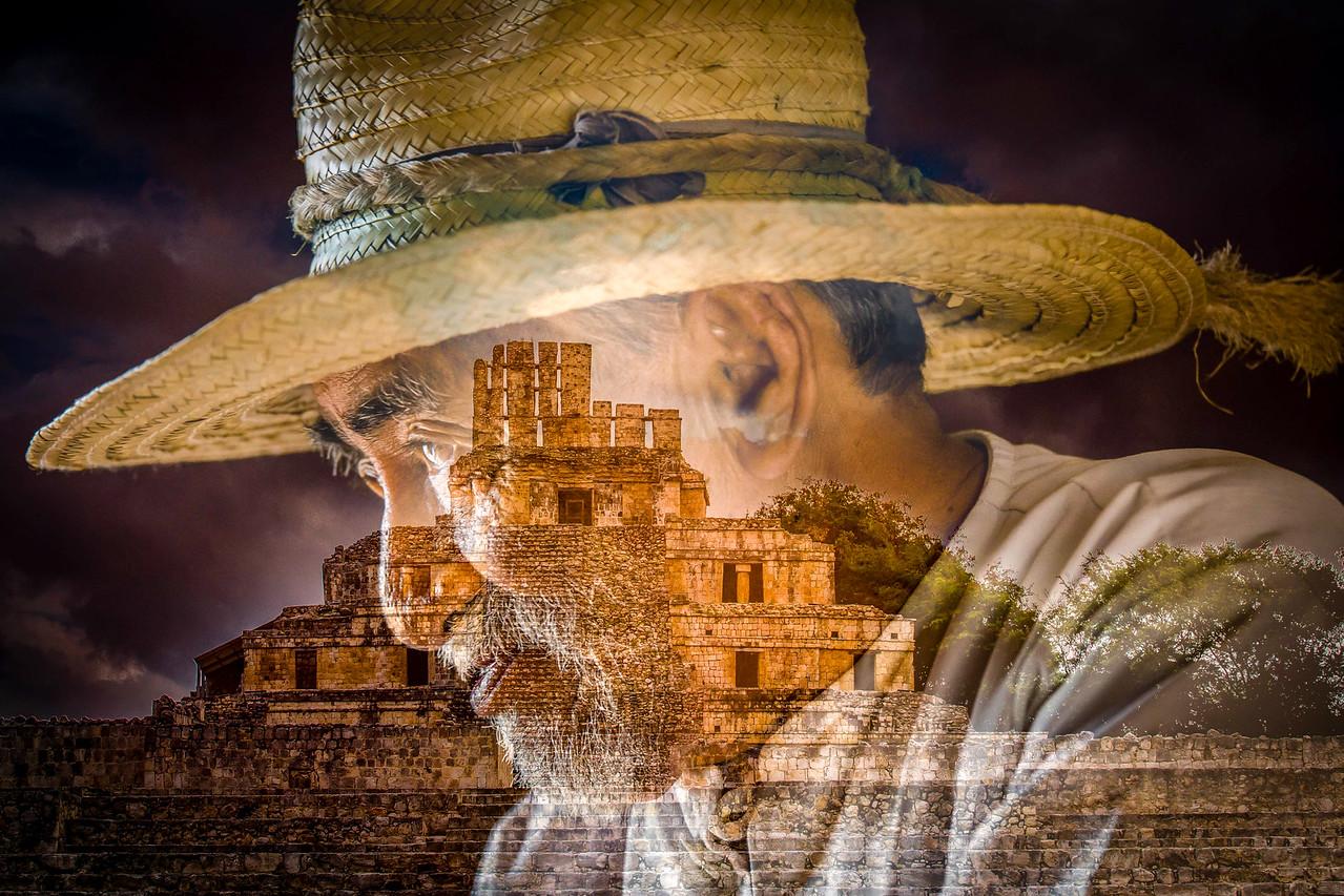 Mayan Man & Edzna - Outside Campeche, Mexico