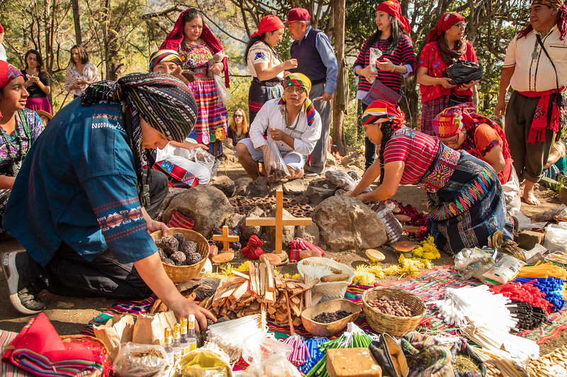 8 Batz Mayan Ceremony #1 - San Marcos La Laguna, Guatemala