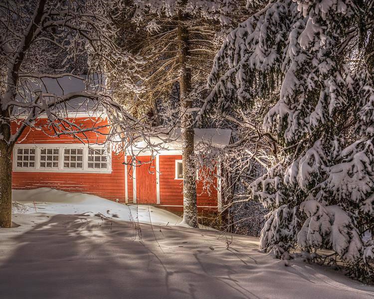 Snowy Barn - Maplewood, MN