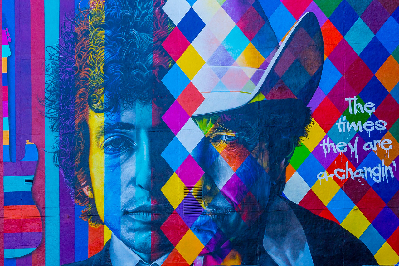 Bob Dylan Mural - Minneapolis, MN