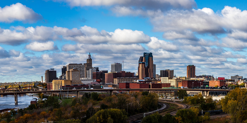 St. Paul Skyline from Mounds Blvd. (Pano)