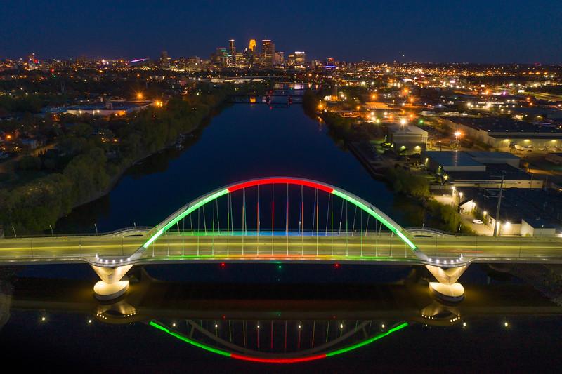 Minneapolis Skyline with Lowry Bridge (Pano)
