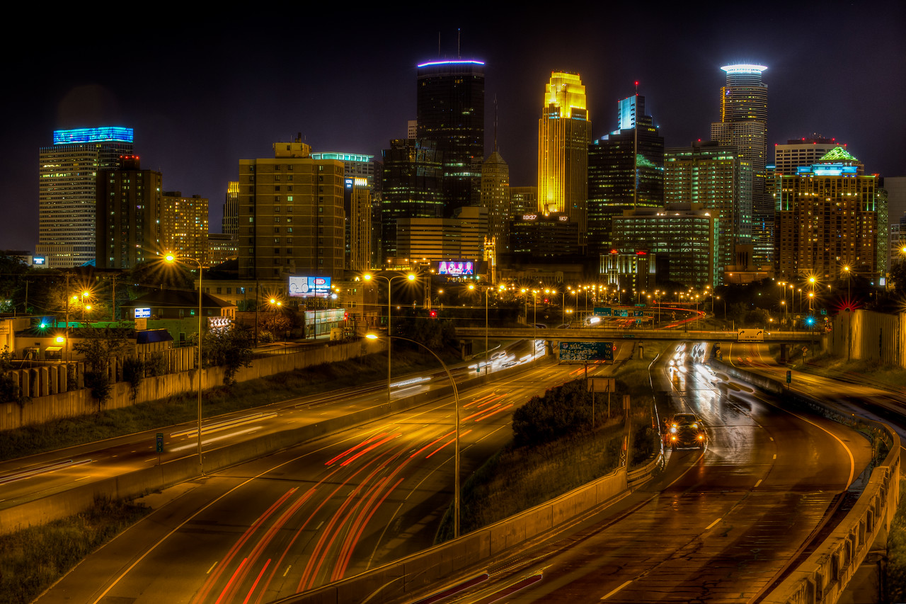 Minneapolis Skyline from 24th Ave Pedestrian Bridge