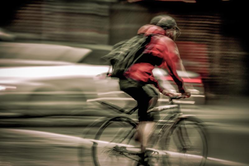 Biker in Motion - Minneapolis, MN