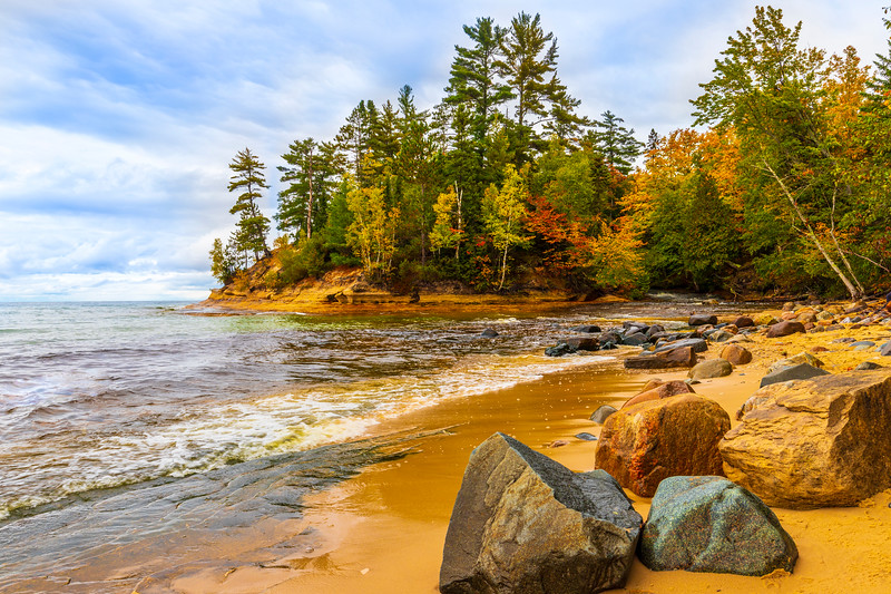 Mouth of Mosquito River - Pictured Rocks National Lakeshore, MI
