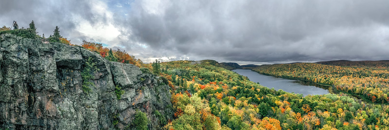 Lake of the Clouds (Pano) #2 - Porcupine Mountains Wilderness State Park, Ontonagon County, MI