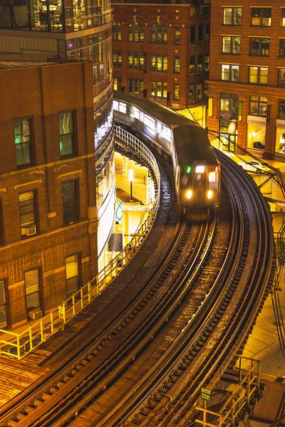 """""""L"""" Train S Curve – Chicago, IL"""