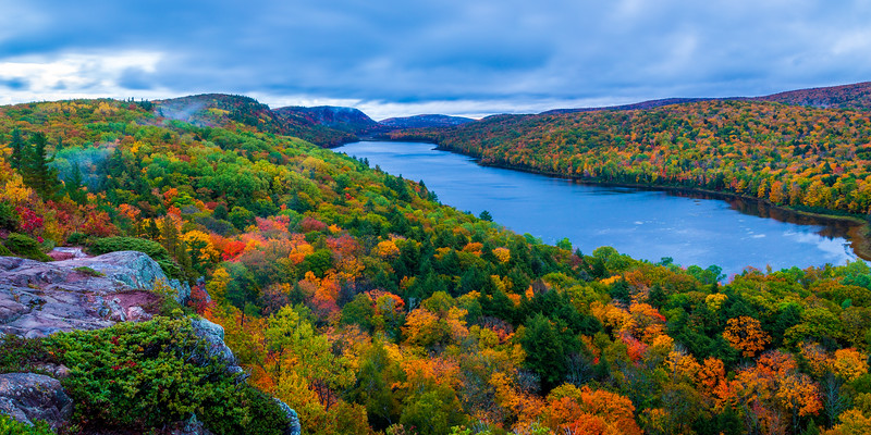 Lake of the Clouds  (Pano) #1- Porcupine Mountains Wilderness State Park, Ontonagon County, MI