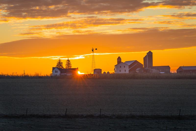Amish Farm Sunrise - Cashton, WI