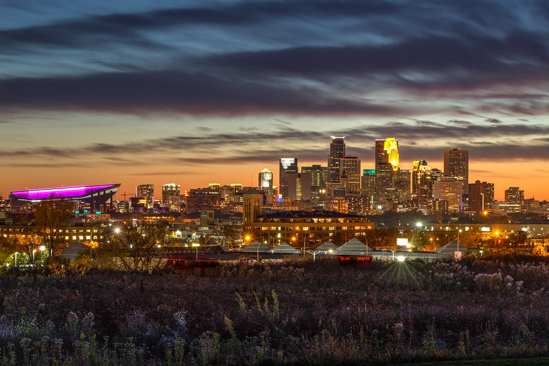 Minneapolis Skyline from Ridgway Parkway Park
