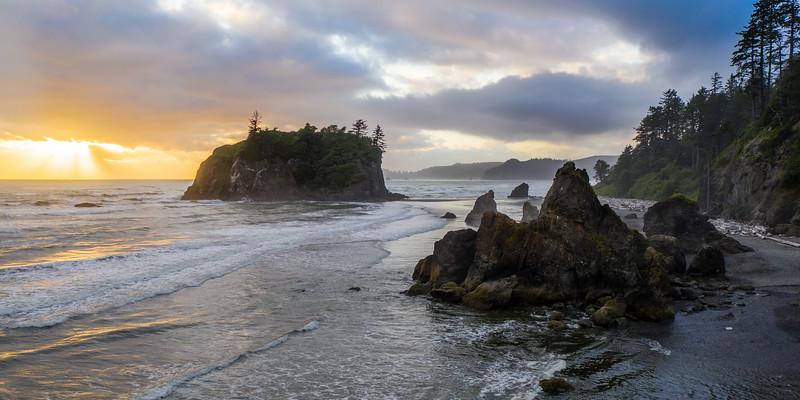 Ruby Beach Sea Stacks #1 (Pano) – Near Hoh, WA
