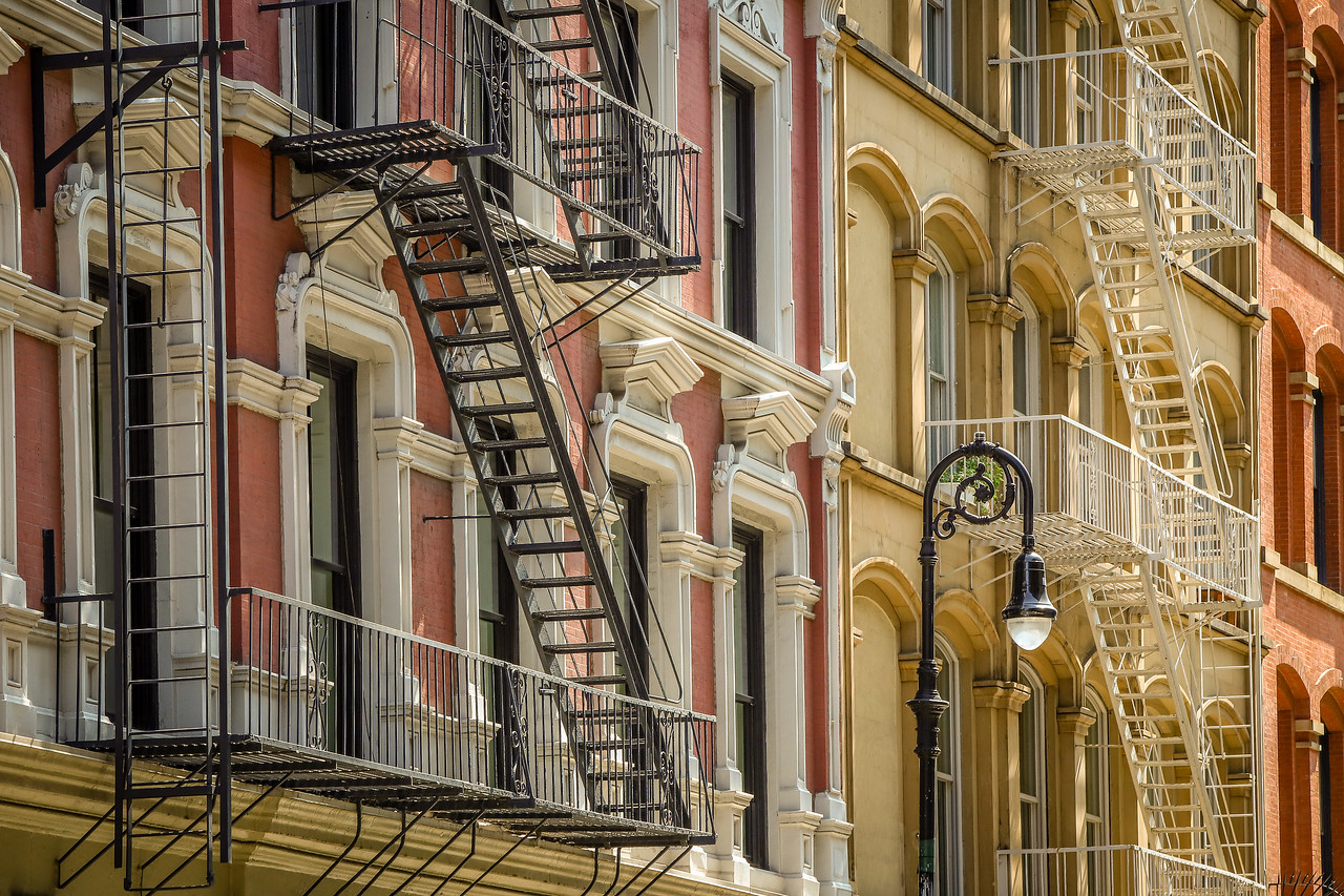 Soho Fire Escapes - New York, NY
