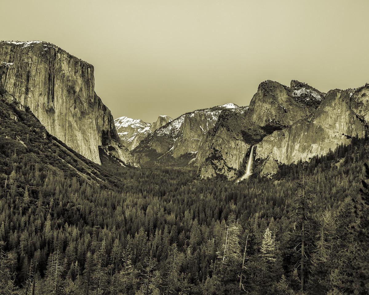 Yosemite Valley (Sepia)- Yosemite National Park, CA
