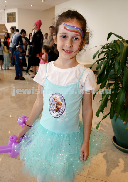 Central Synagogue's Disney themed Purim Party. Tali Mizrahi. Pic Noel Kessel.