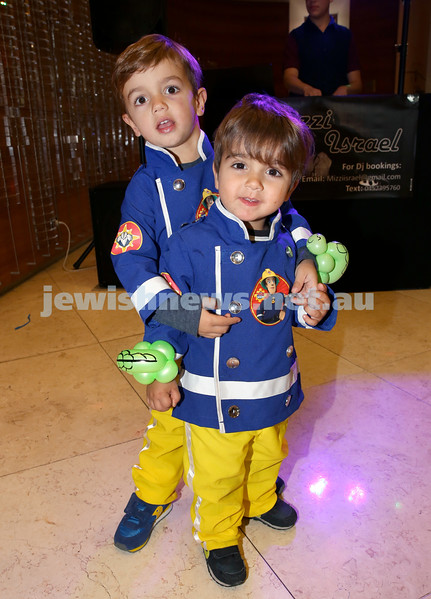 Central Synagogue's Disney themed Purim Party. Ethan & Jonathan Kachtan. Pic Noel Kessel