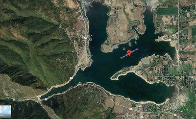 Satellite view of Pineview Reservoir