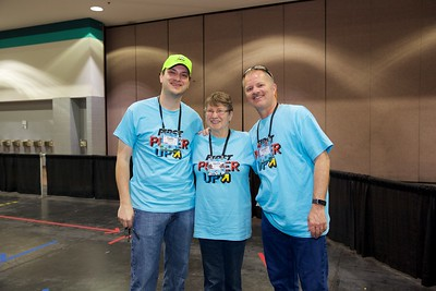 3 generations of volunteers - mother, son, and grandson!