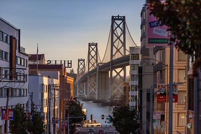 Early morning look at the bay bridge