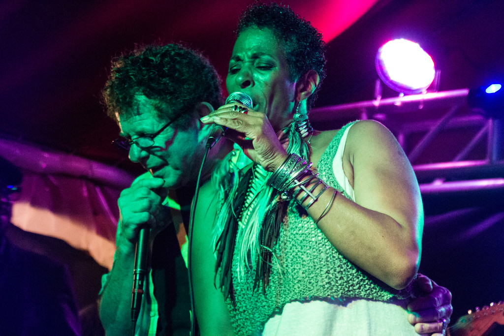 Lee Oskar and Shakira Jamming at the Bouquete Jazz and Blues Festival  (©simon@myeclecticimages.com)