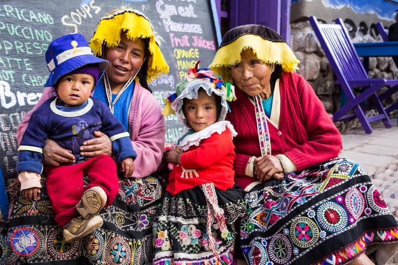 Pisac Ladies with Their Children