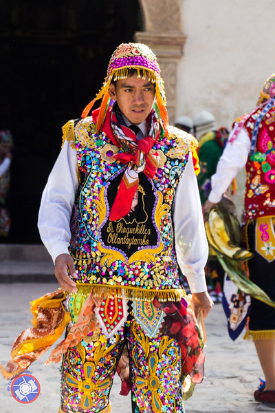 Dressed in traditional costume for the Festival of El Senor de Choquekillka