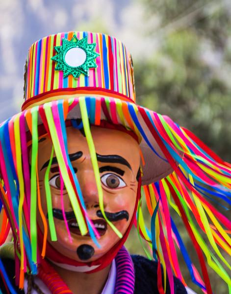 Disguised to Celebrate the Festival of El Senor de Choquekillka in Ollantaytambo