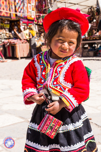 Cute Young Girl in Traditional Costume