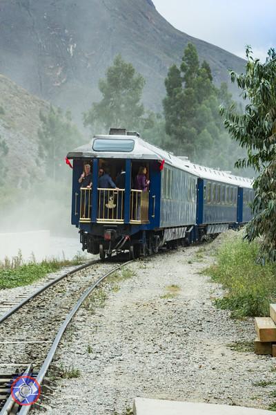 PeruRail Train Departing Ollantaytambo for Aguas Calientes