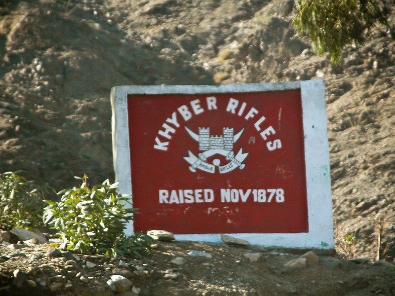 A monument to a famous British military unit that operated once in the area. Khyber Pass region
